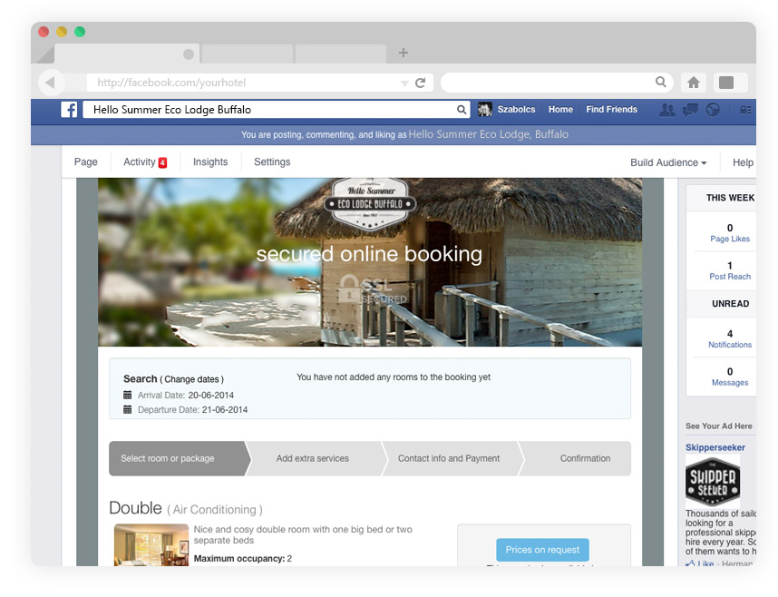 Facebook Booking Engine